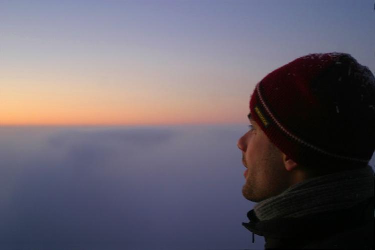 Felhők felett Ágasvár csúcsán