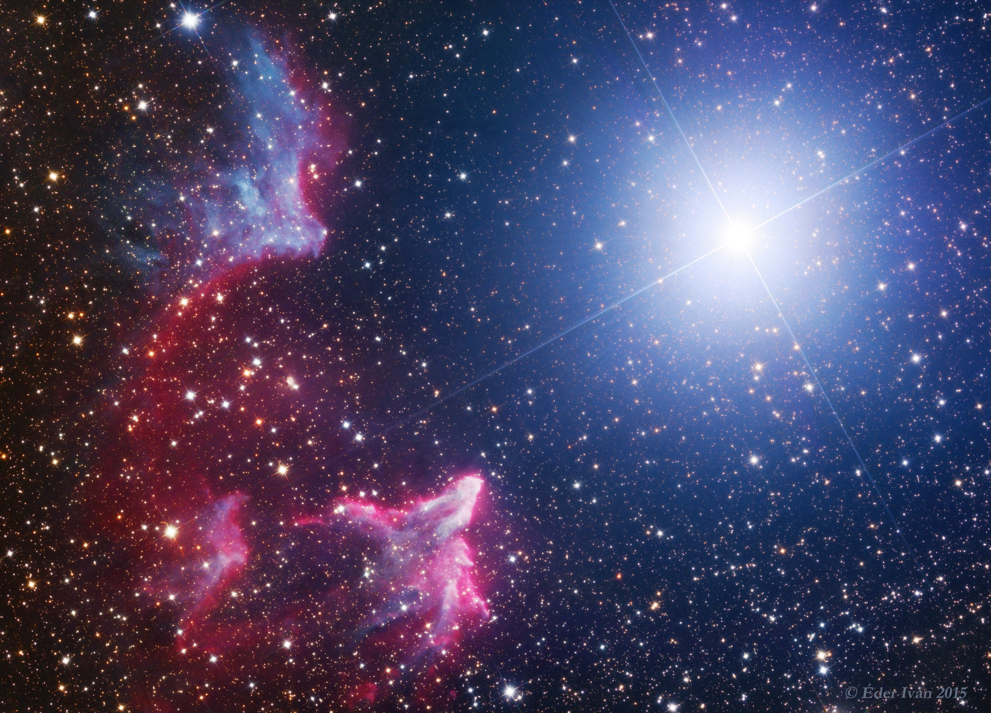 Az IC 59, IC 63 és a Gamma Cassiopeiae