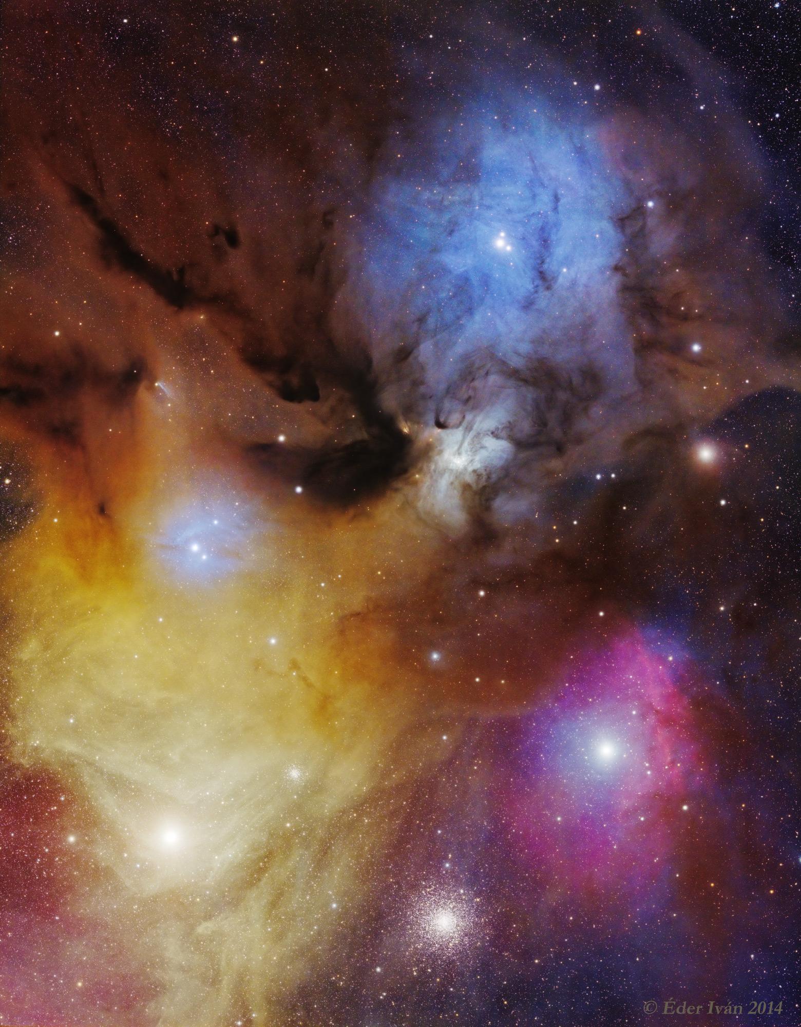 Az Antares és a Rho Ophiuchi színpompája