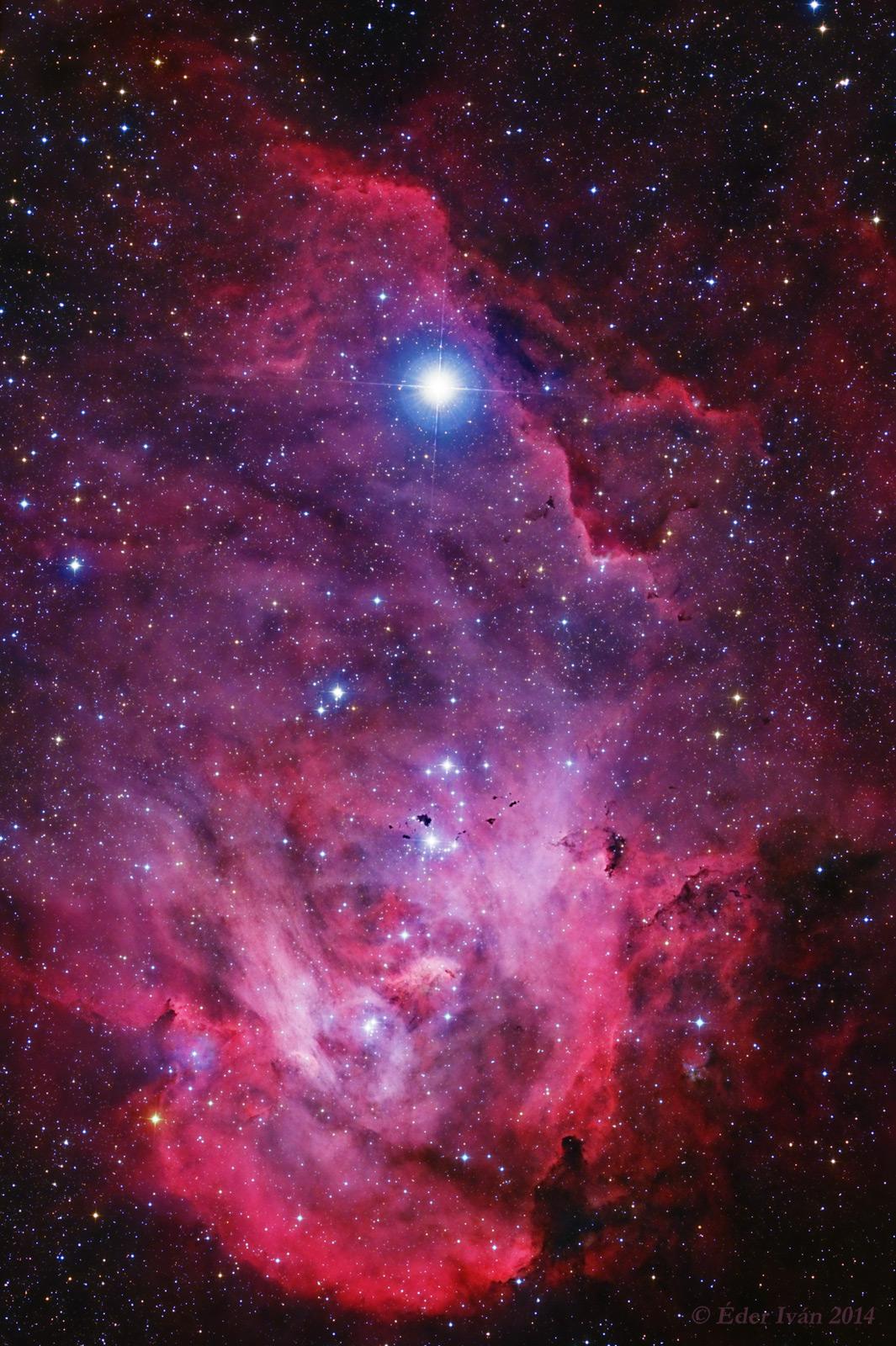 A Futó Csirke - IC 2944, IC 2948
