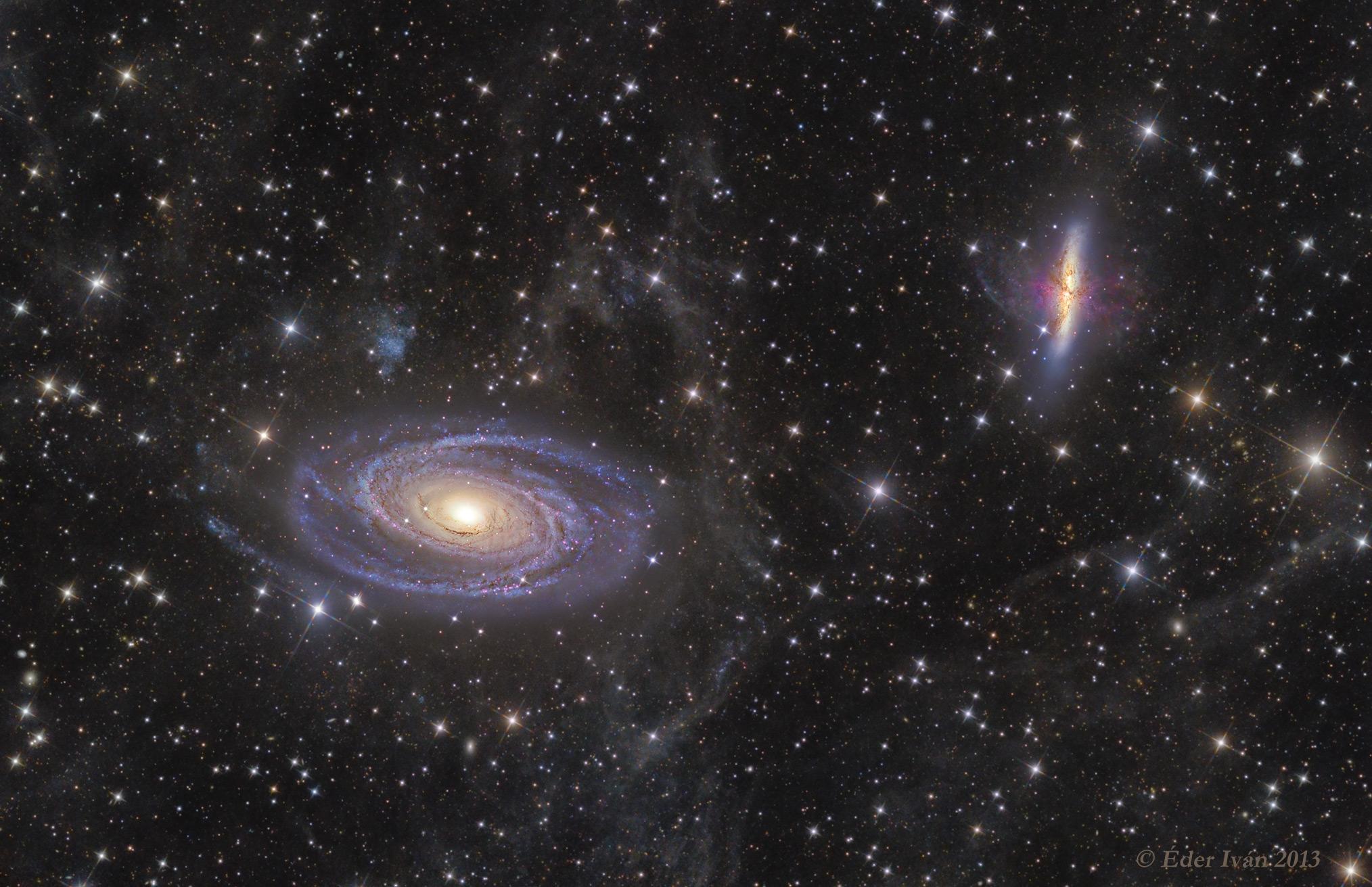 Az M81 - M82 jelű galaxisok és a Fluxusköd