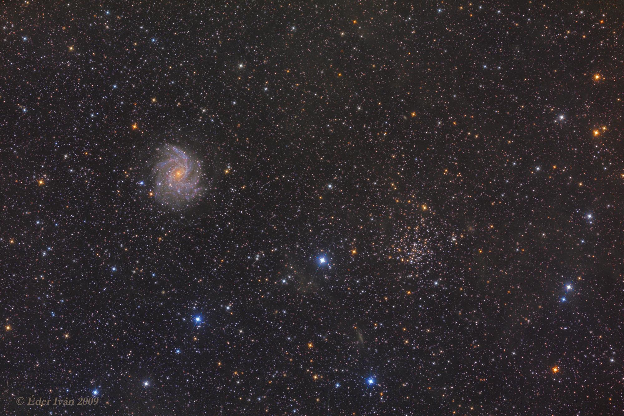 Az NGC 6946-6939 galaxis-nyílthalmaz párosa