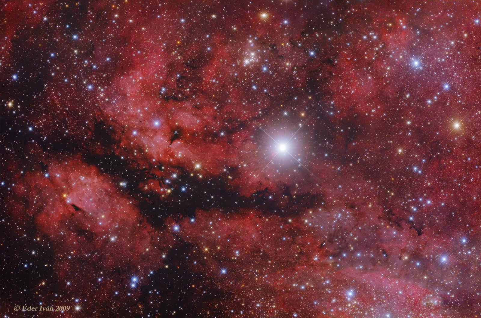 IC 1318 jelű emissziós ködök