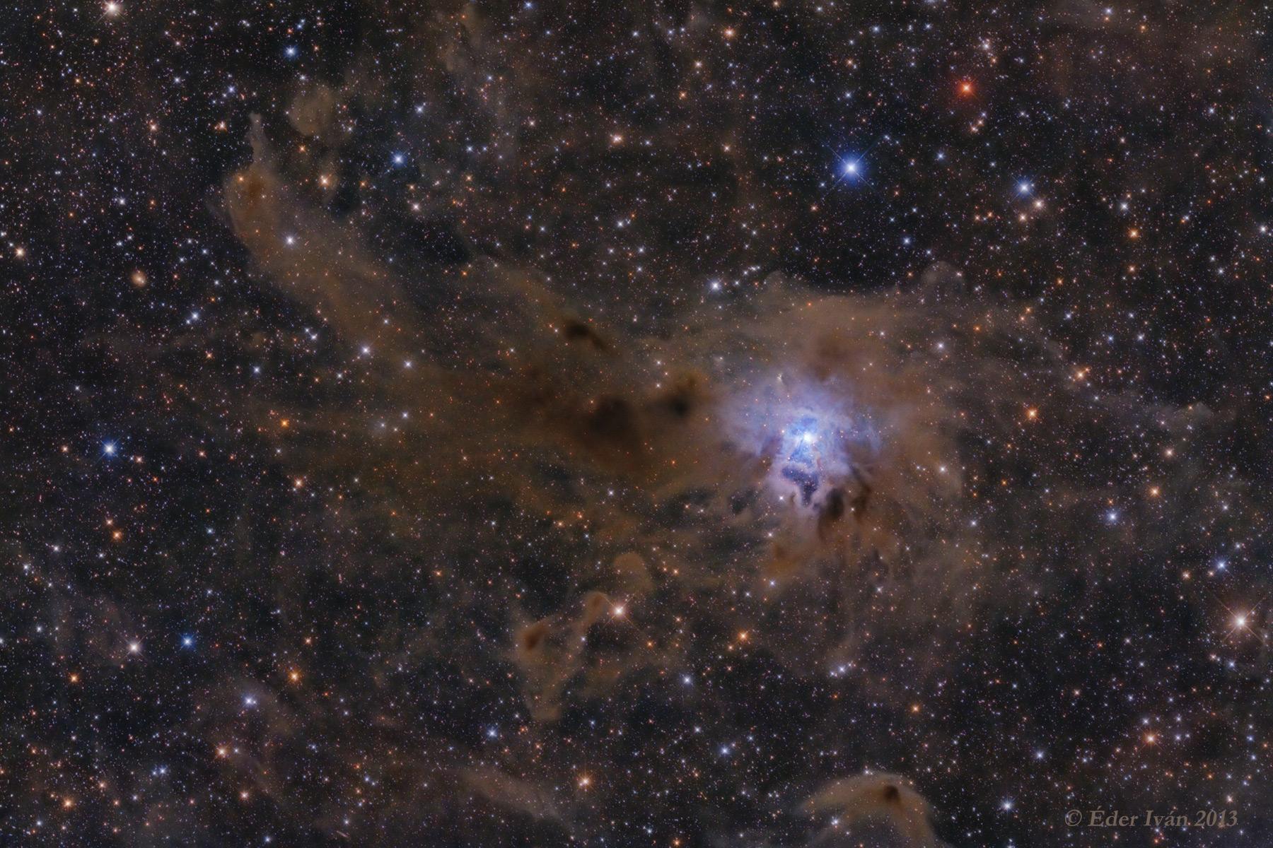 Az Írisz-köd (NGC 7023) és a környező sötétködök