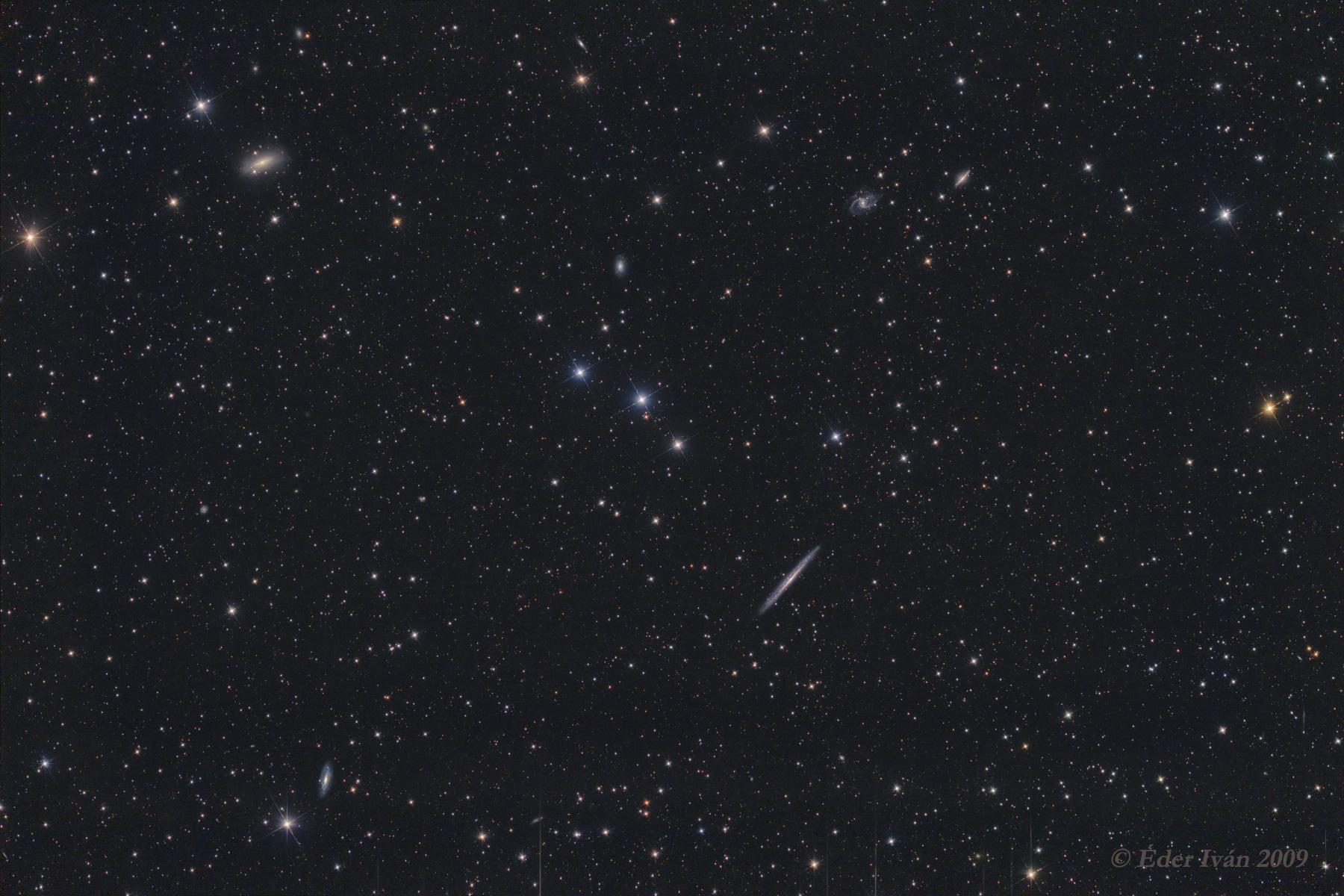 Az NGC 5907 galaxis és szomszédai