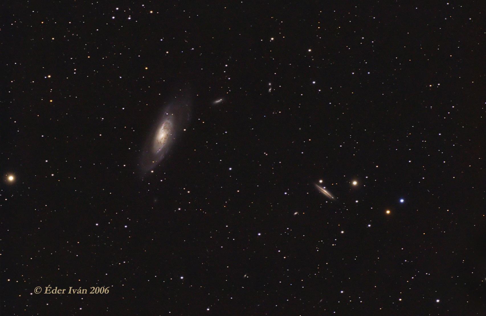 Az M106 és az NGC 4217 jelű galaxisok