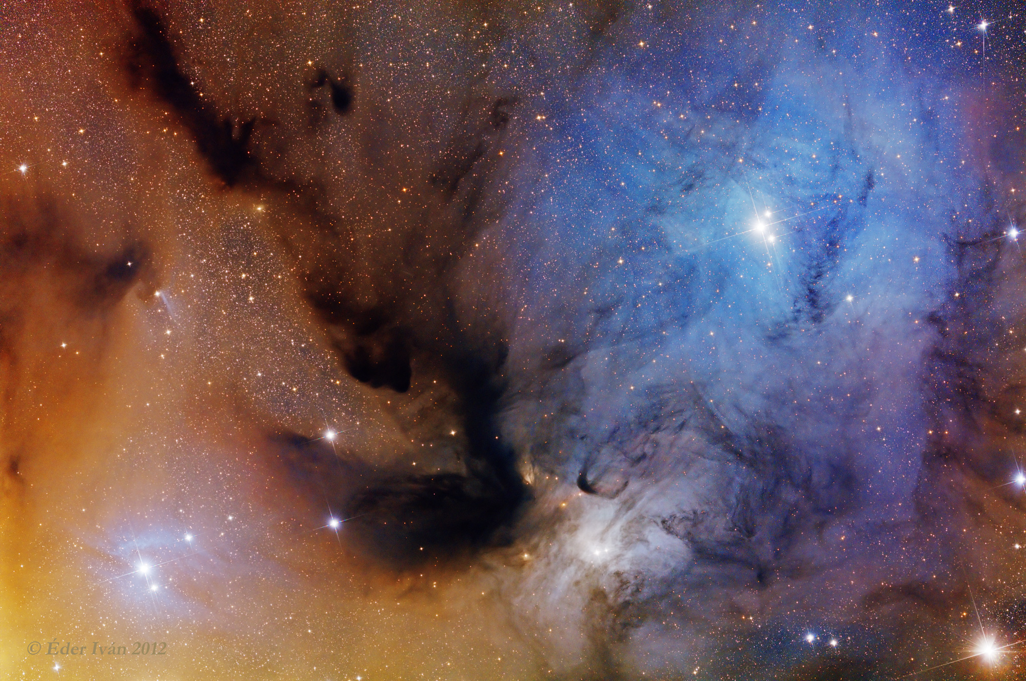 Colorful Clouds of Rho ophiuchi