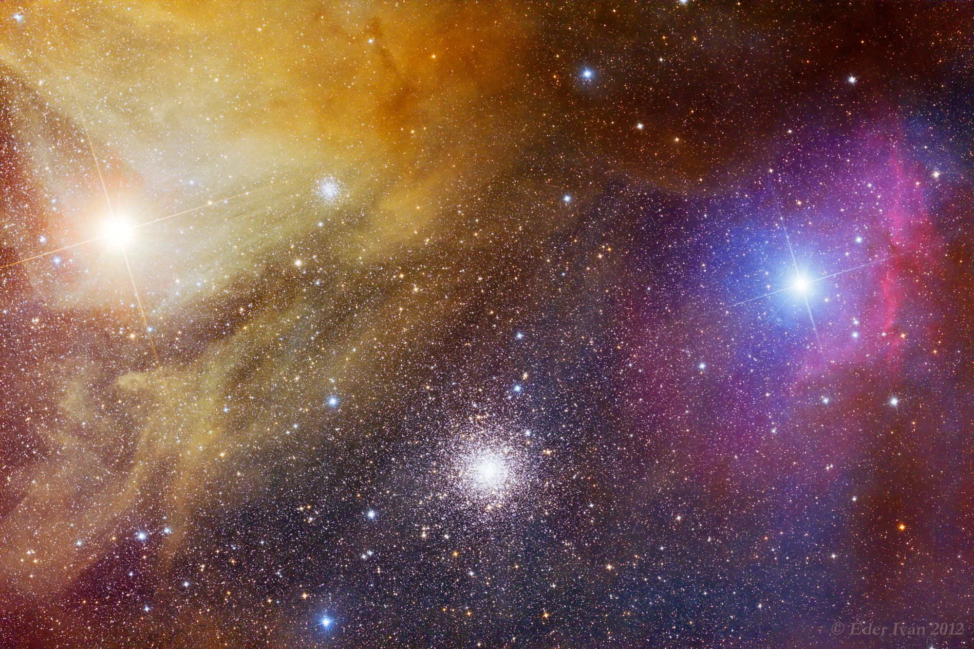 Colorful clouds of Antares
