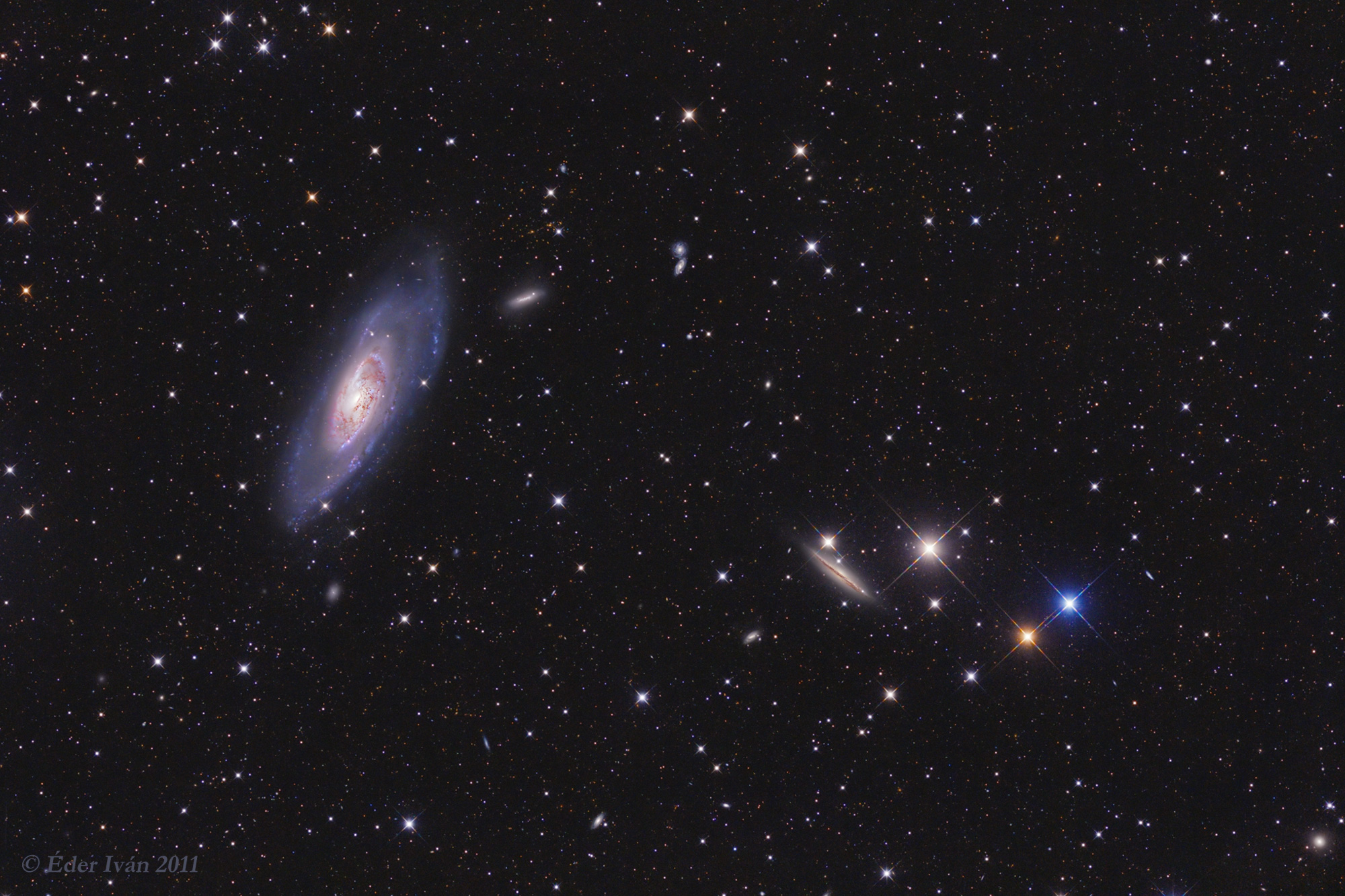 M 106 galaxy and its neighbours
