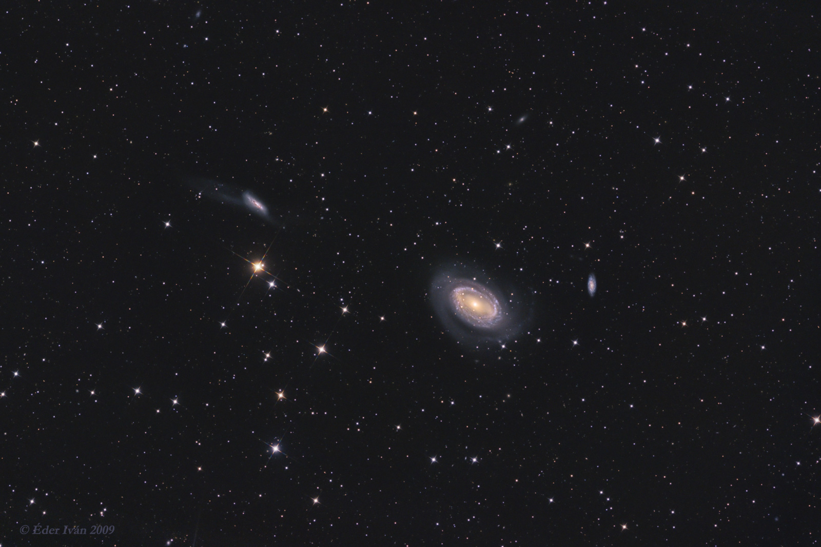 NGC 4725, 4747 and 4712 galaxies