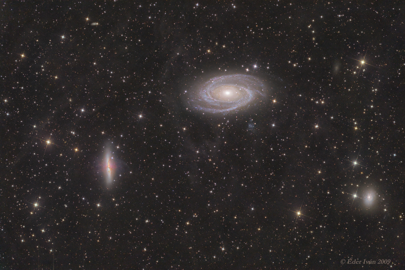 M 81-82, and Integrated Flux Nebula