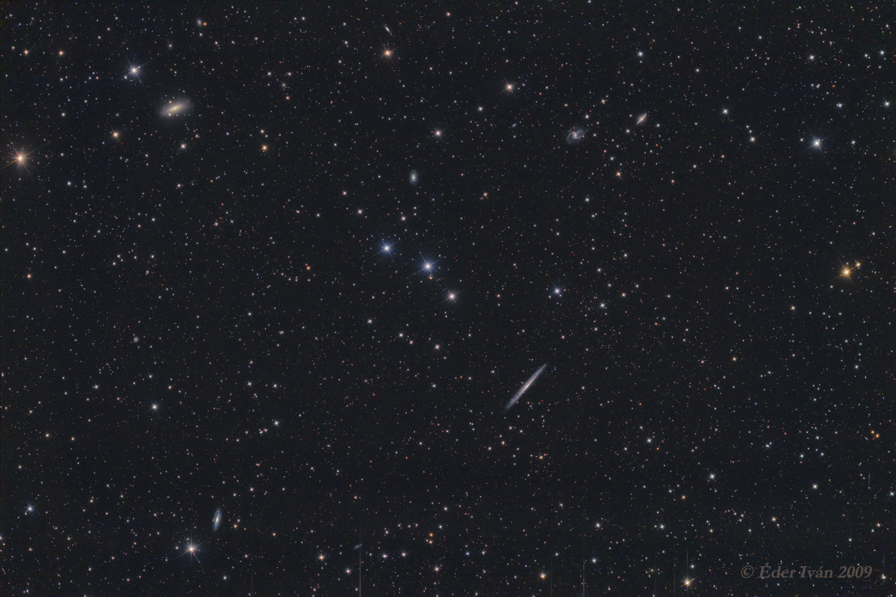NGC 5907 and nearby galaxies