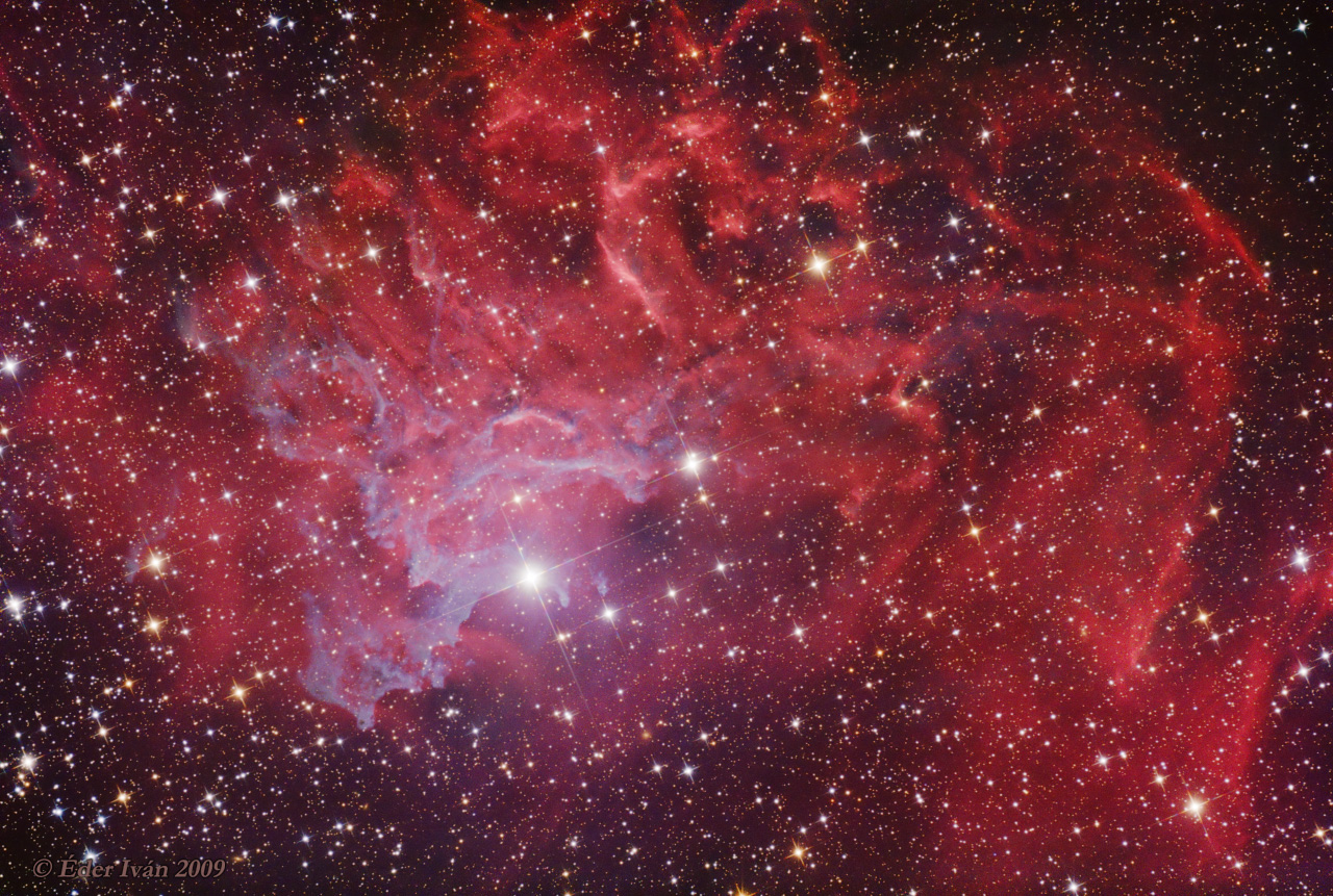 The Flaming Star Nebula (IC 405)