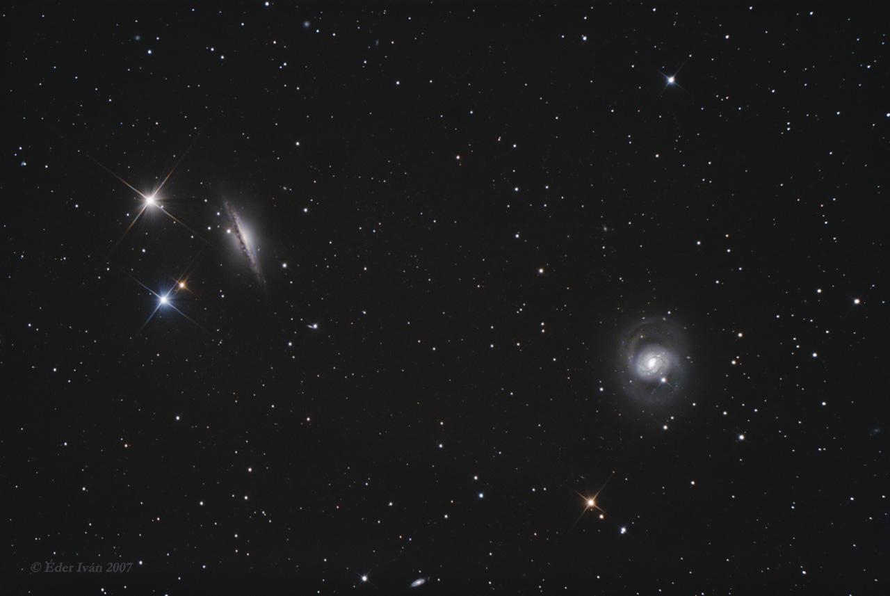 M 77 and NGC 1055 galaxies