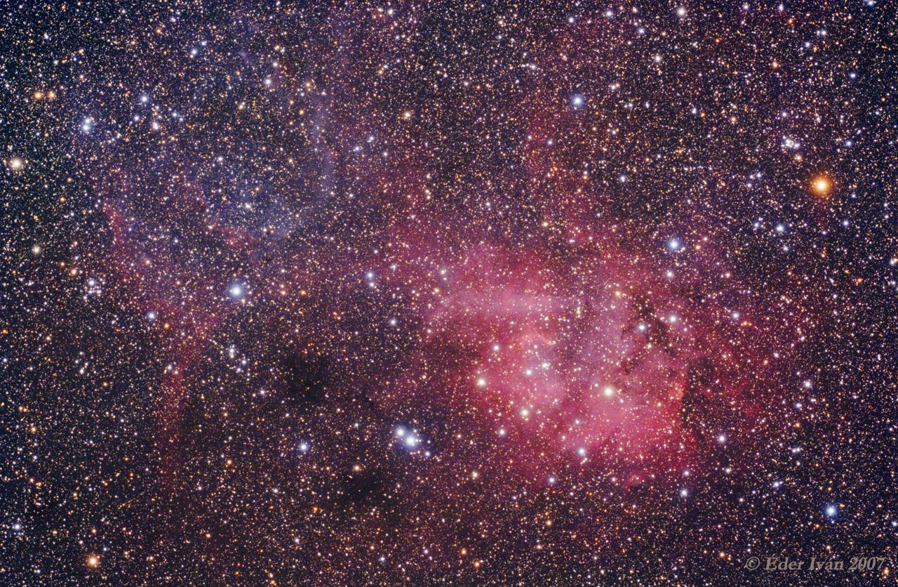 Sh2-132 nebula region