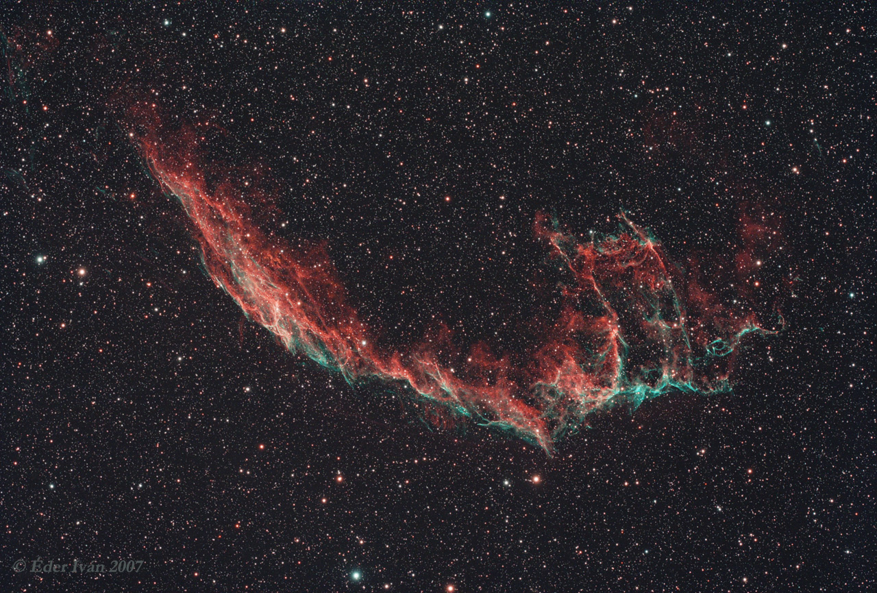 Eastern part of the Veil nebula (NGC 6992)