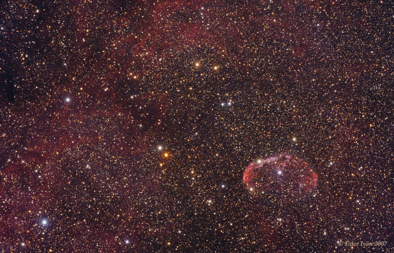 Crescent nebula region (NGC 6888)