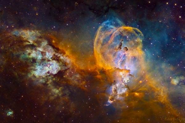 NGC 3576 - 3603, Statue of Liberty Nebula