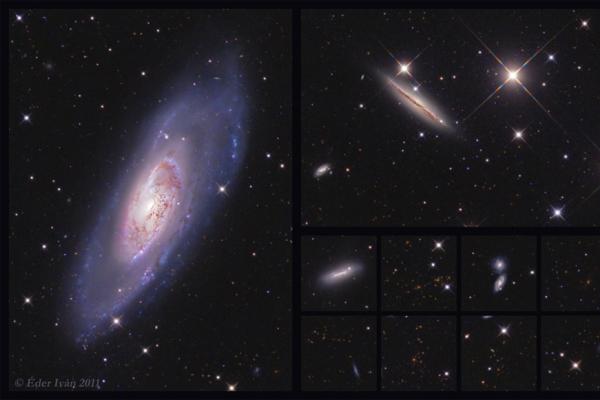 Az M 106 jelű galaxis és környezete
