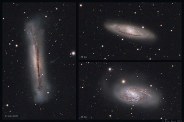 Galaxistrió  (M65,M66,NGC3628)