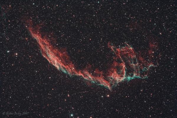 A Fátyol-köd keleti része (NGC 6992)