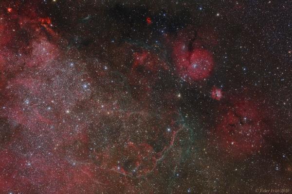 Vela Supernova Remnant area