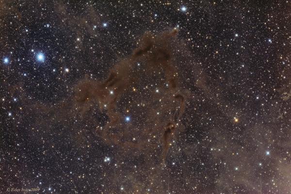 LBN 468 and PV Cephei (Gyulbudaghian's Nebula, HH215)