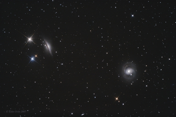M 77 and NGC 1055 galaxies
